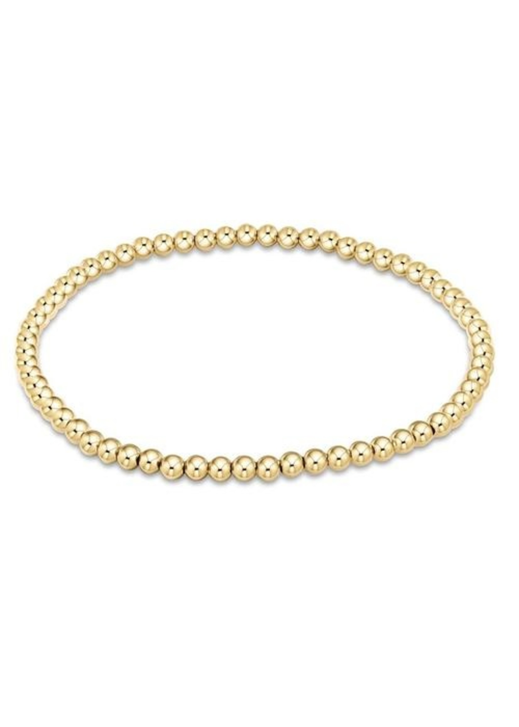 enewton Classic Gold 3mm Bead Bracelet