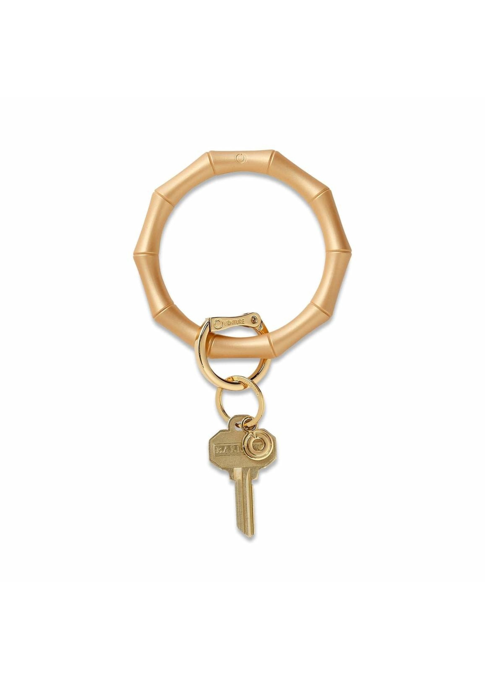 O-venture Silicone Key Ring - Gold Bamboo