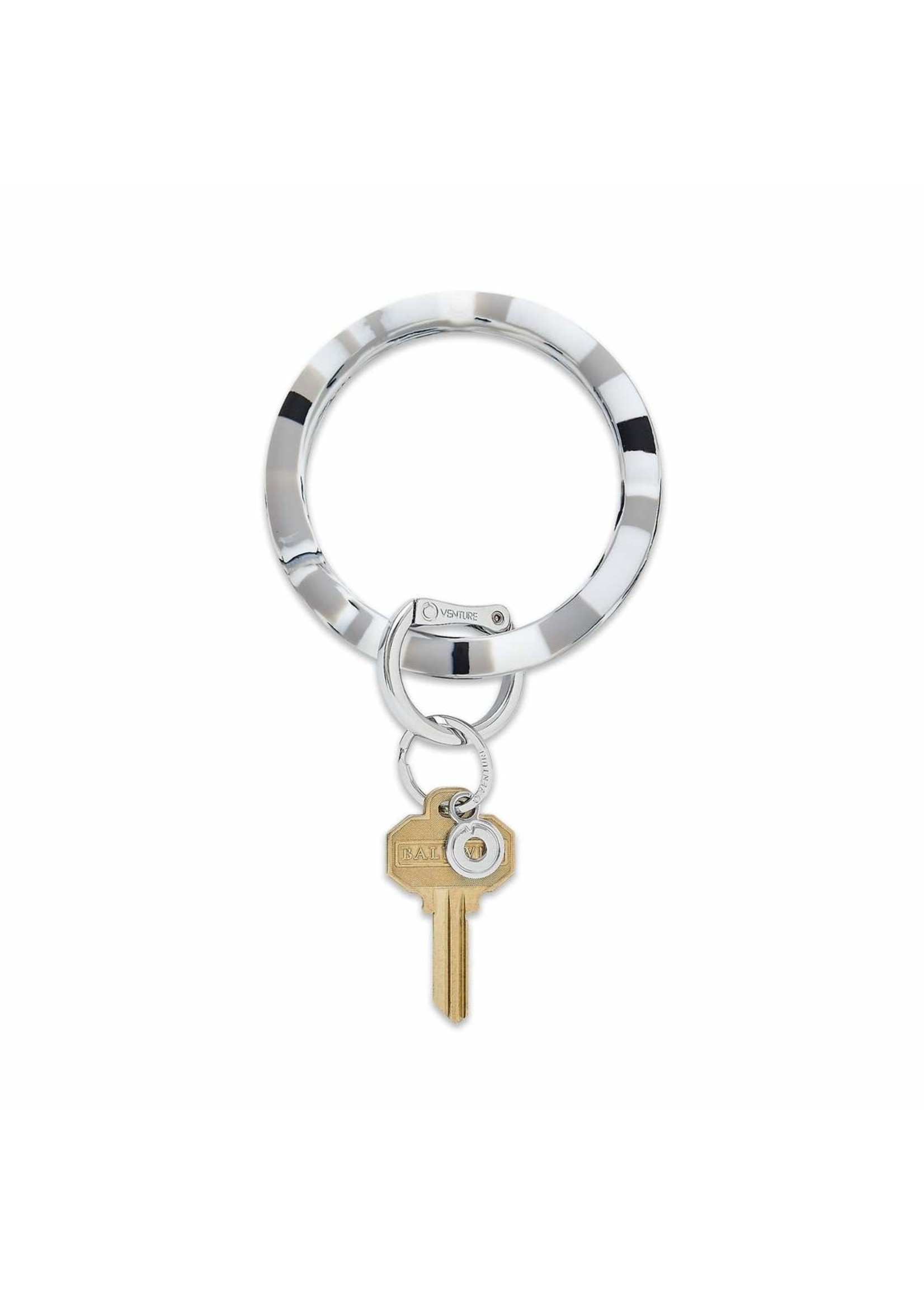 O-venture Silicone Key Ring - Tuxedo Marble