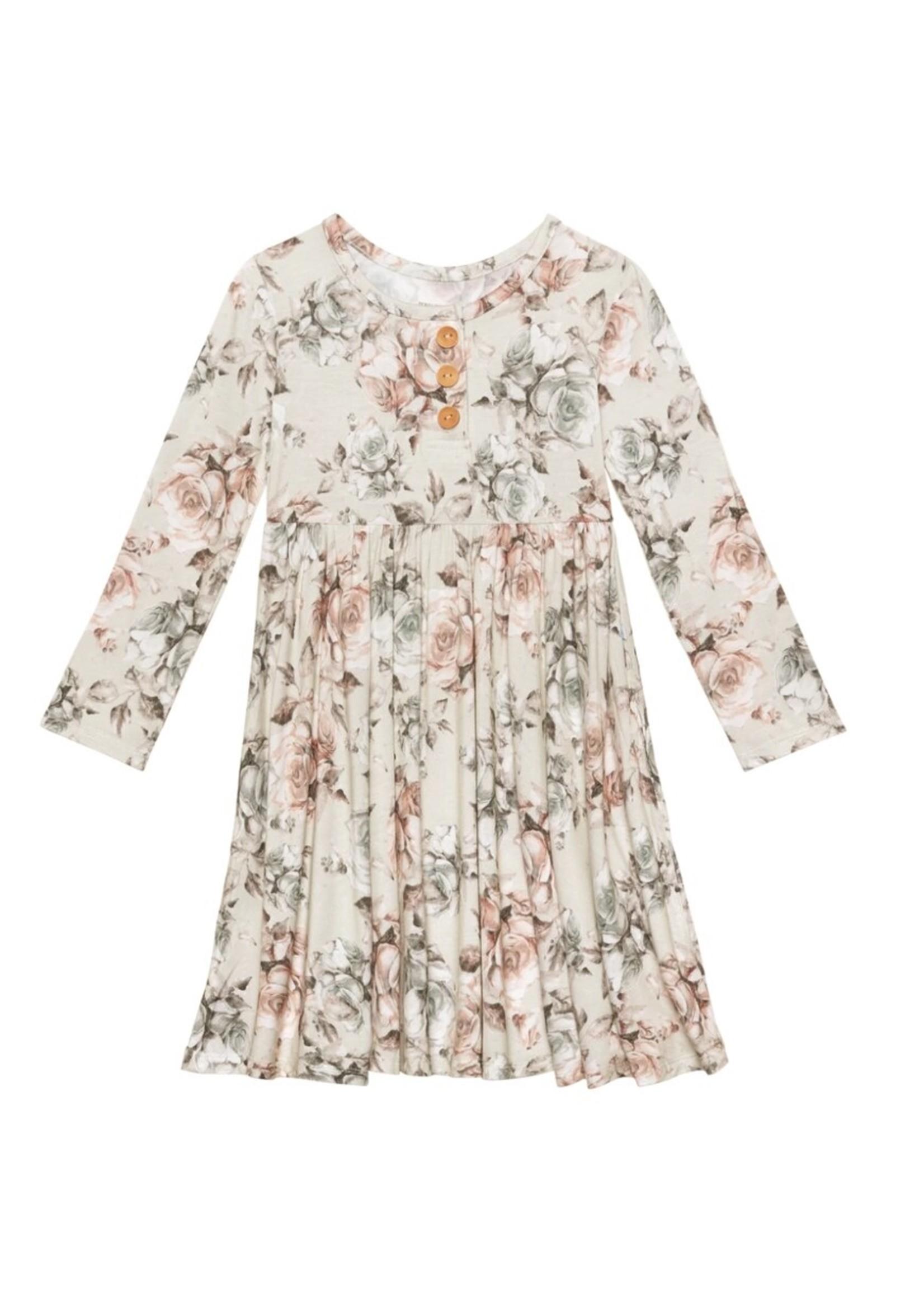 posh peanut Daniella Long Sleeve Twirl Dress 3T