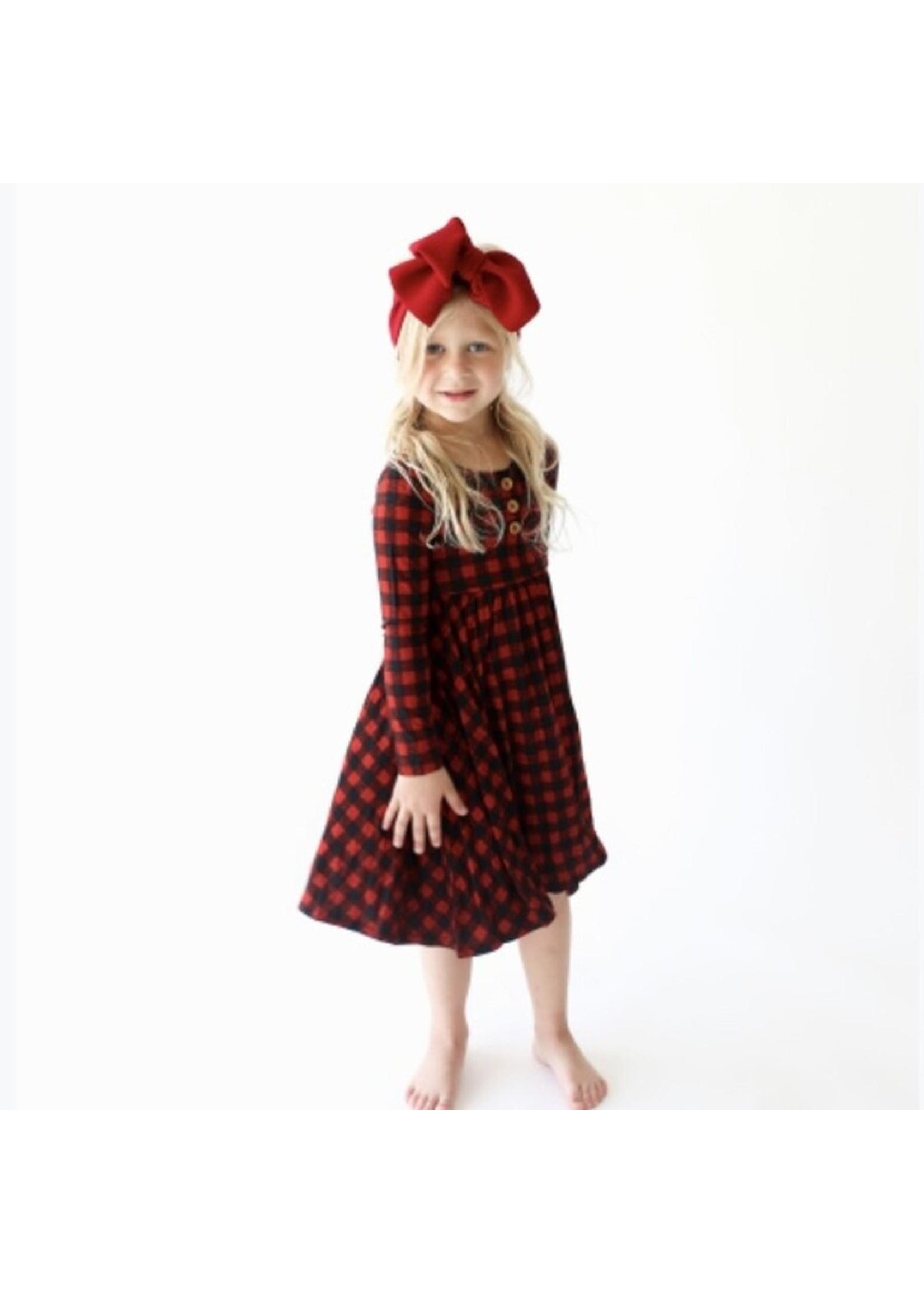 posh peanut Grayson Long Sleeve Twirl Dress 2T