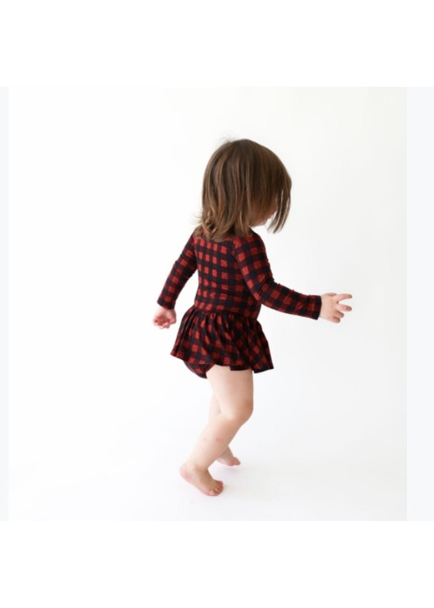 posh peanut Grayson Long Sleeve Twirl Skirt Bodysuit 12-18 mos.