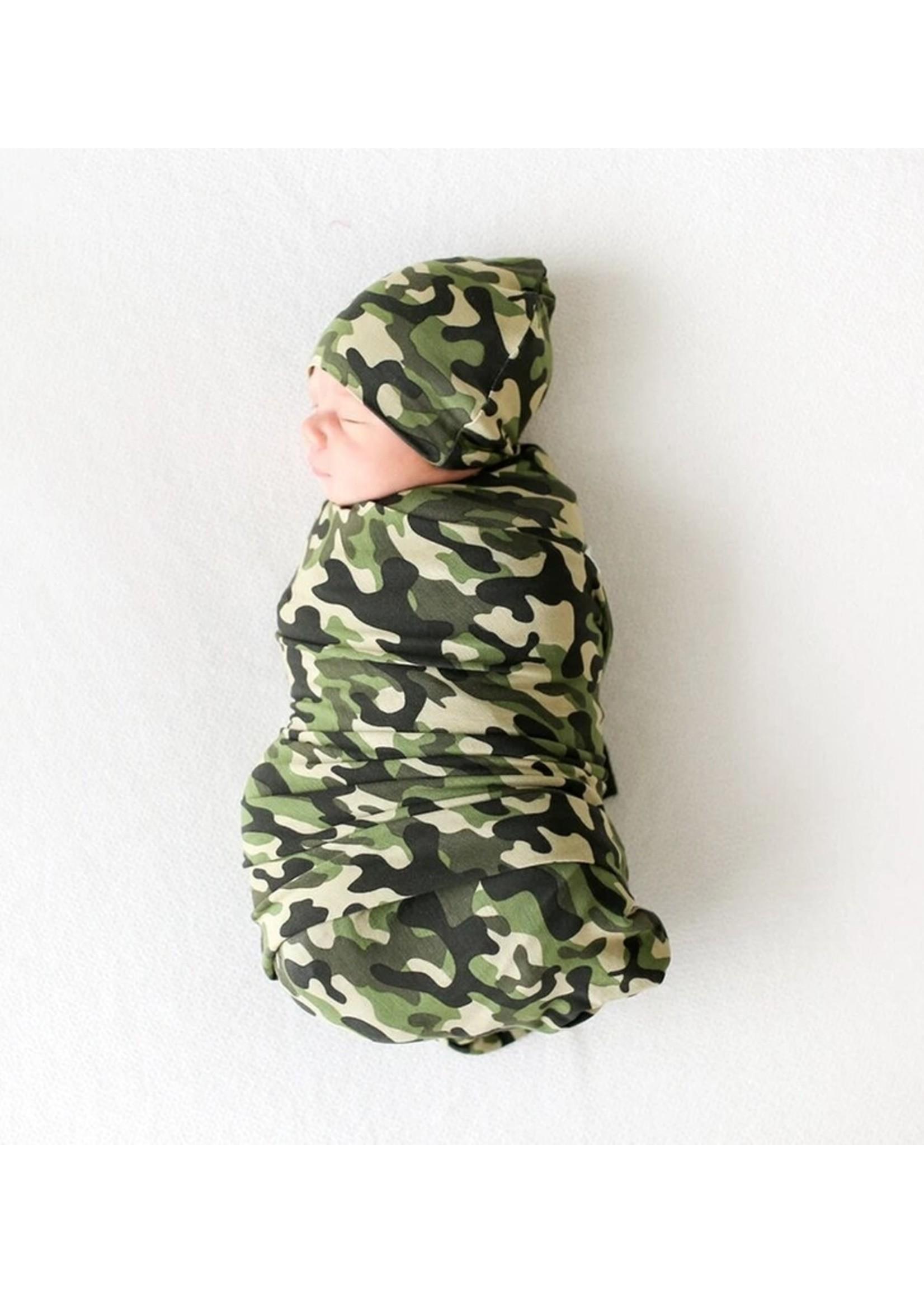 posh peanut Cadet Infant Swaddle & Beanie Set