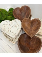 forever green art Medium Heart Dough Bowl