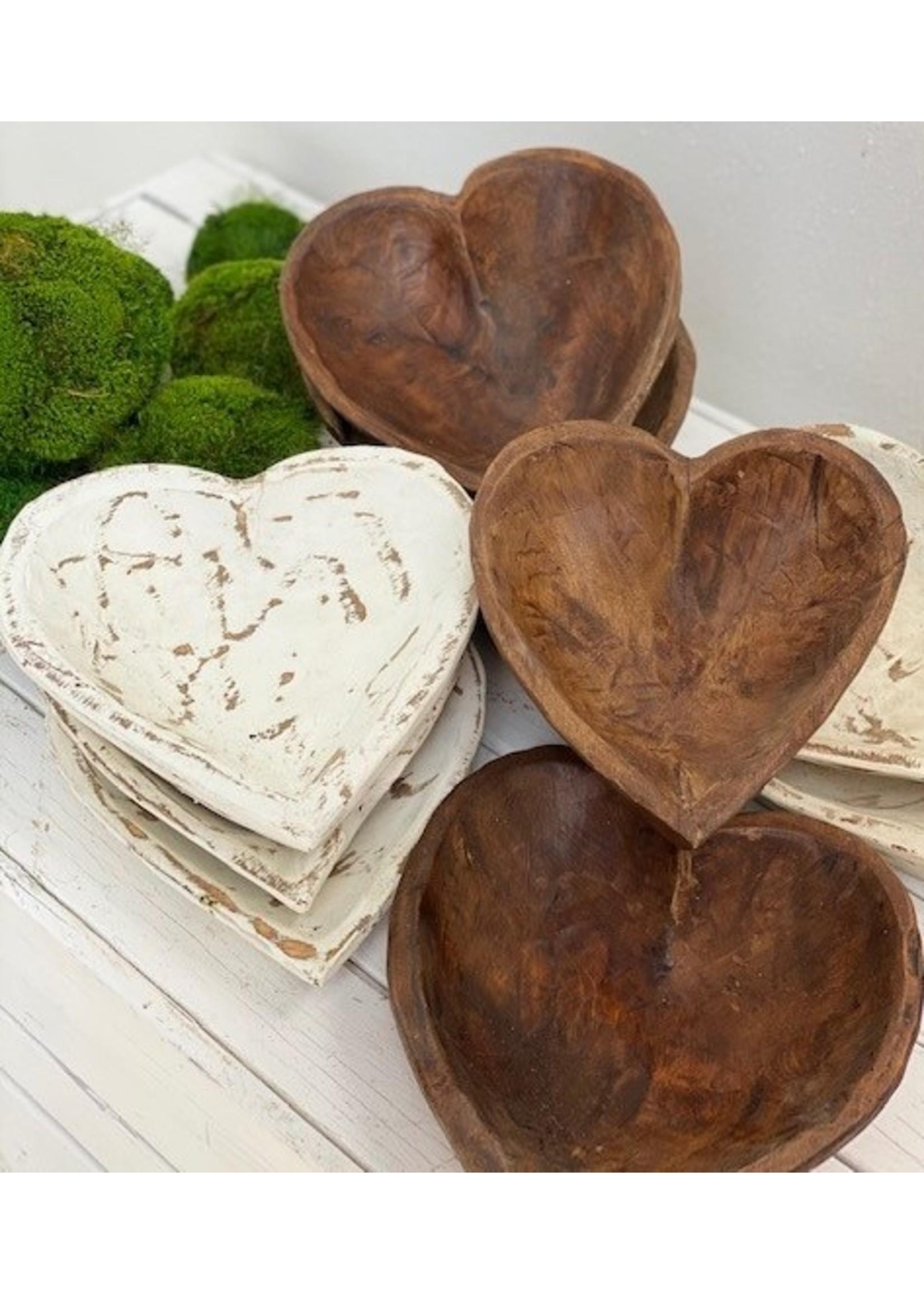 forever green art Medium Heart Dough Bowl