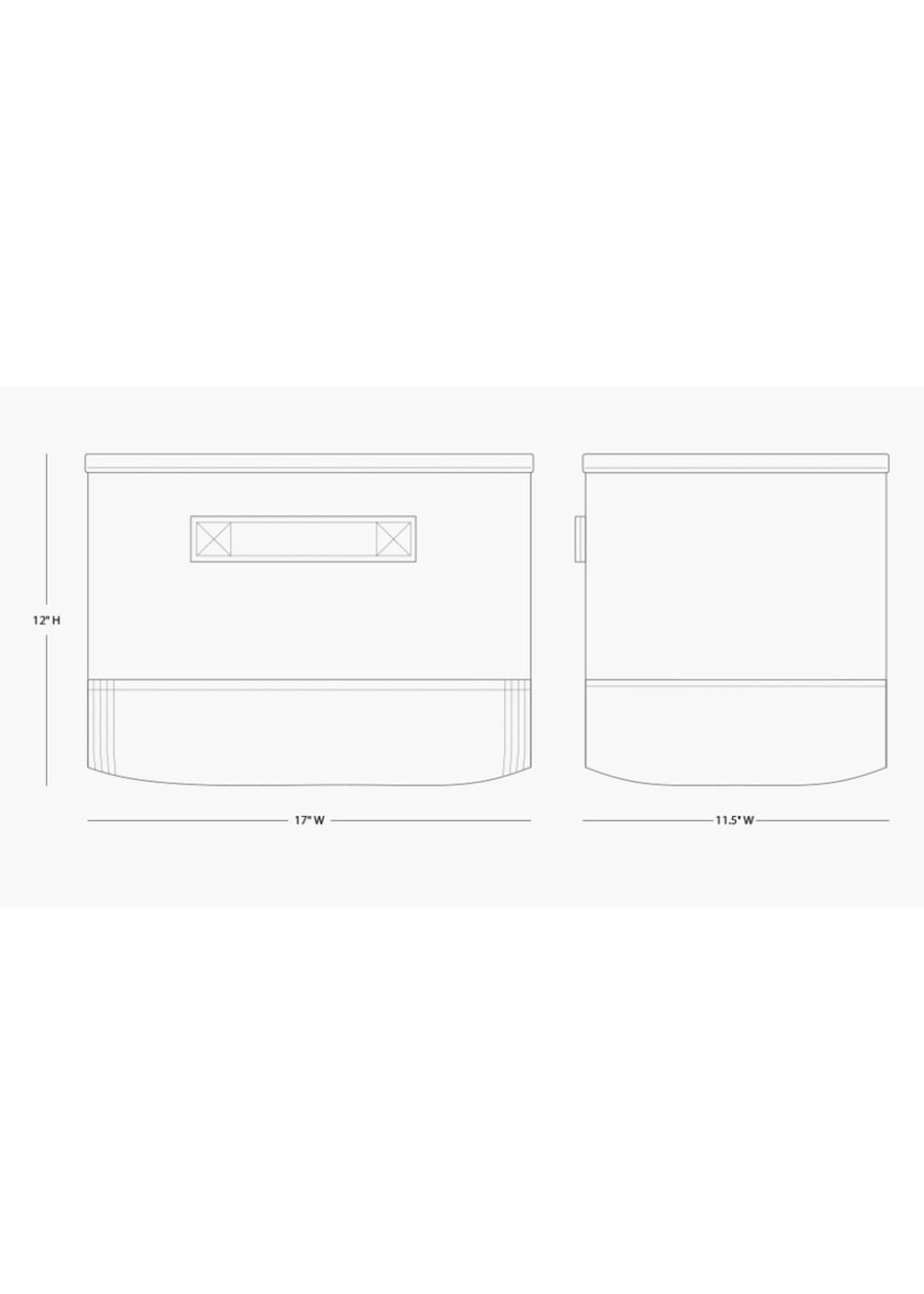CB Station Canvas Storage Bin with Monogram