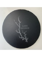 birch and boulder Lake Slate Trivet