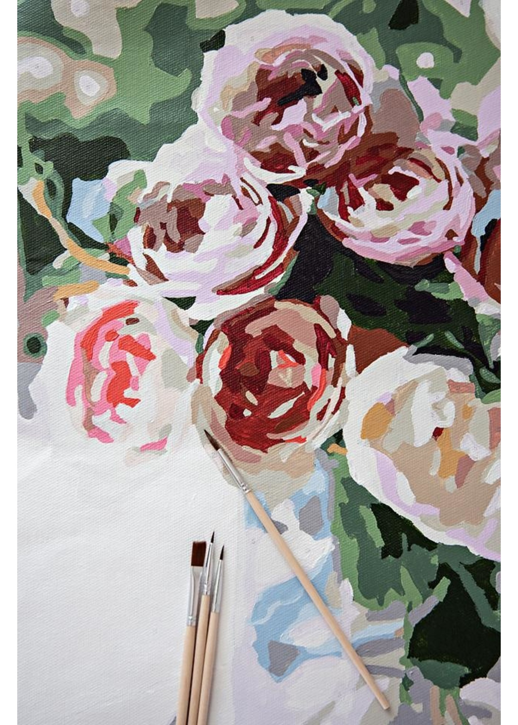 Pink Picasso Paint By Number Mail Me Roses