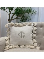 Creative Co-op Square Cotton Tassel Pillow