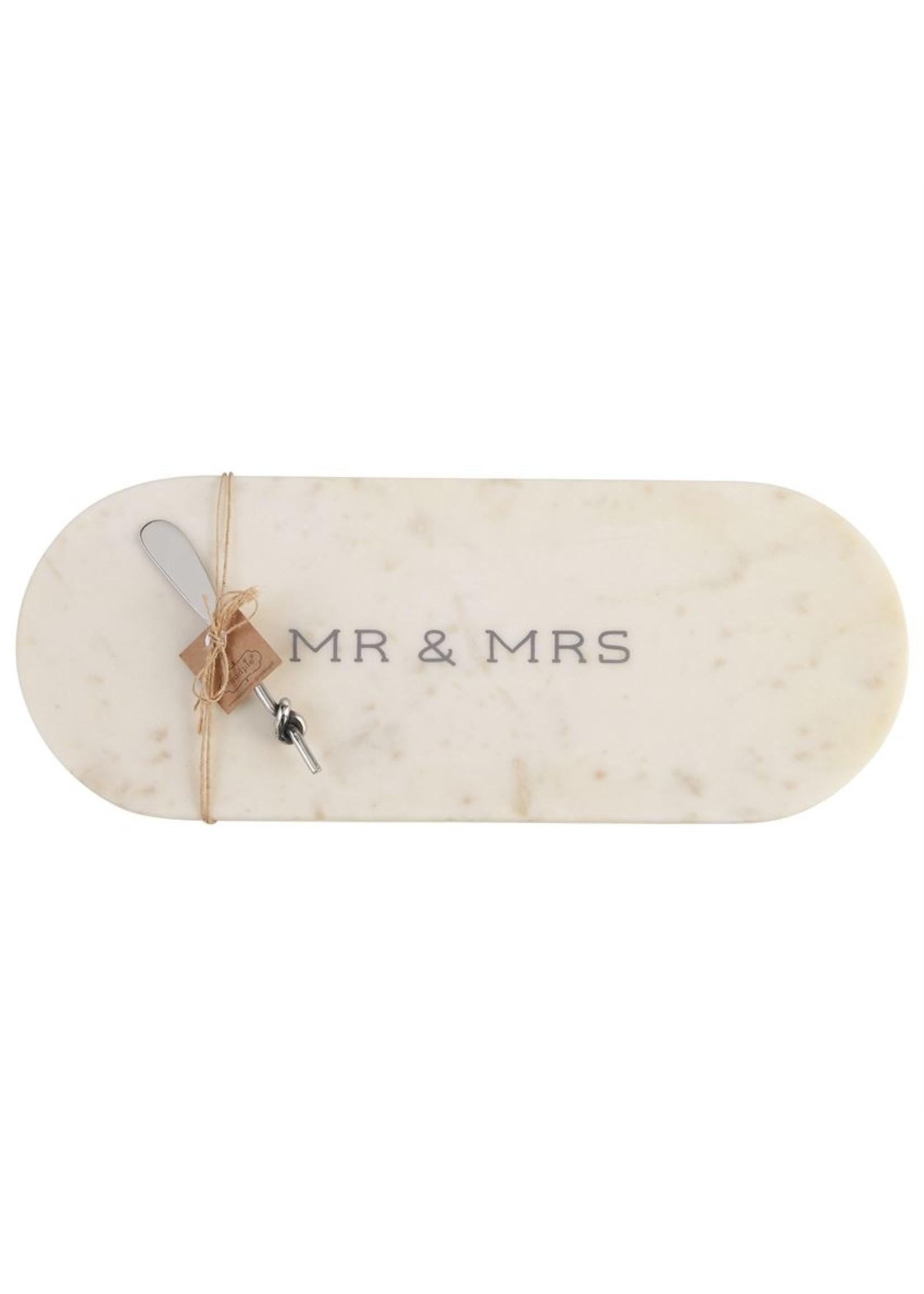 Mudpie Mr. & Mrs. Oval Marble Board