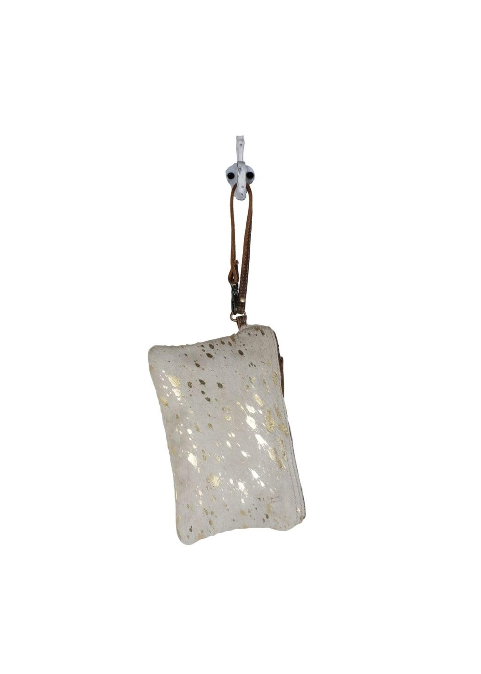 myra bags Golden Snow Hairon Pouch