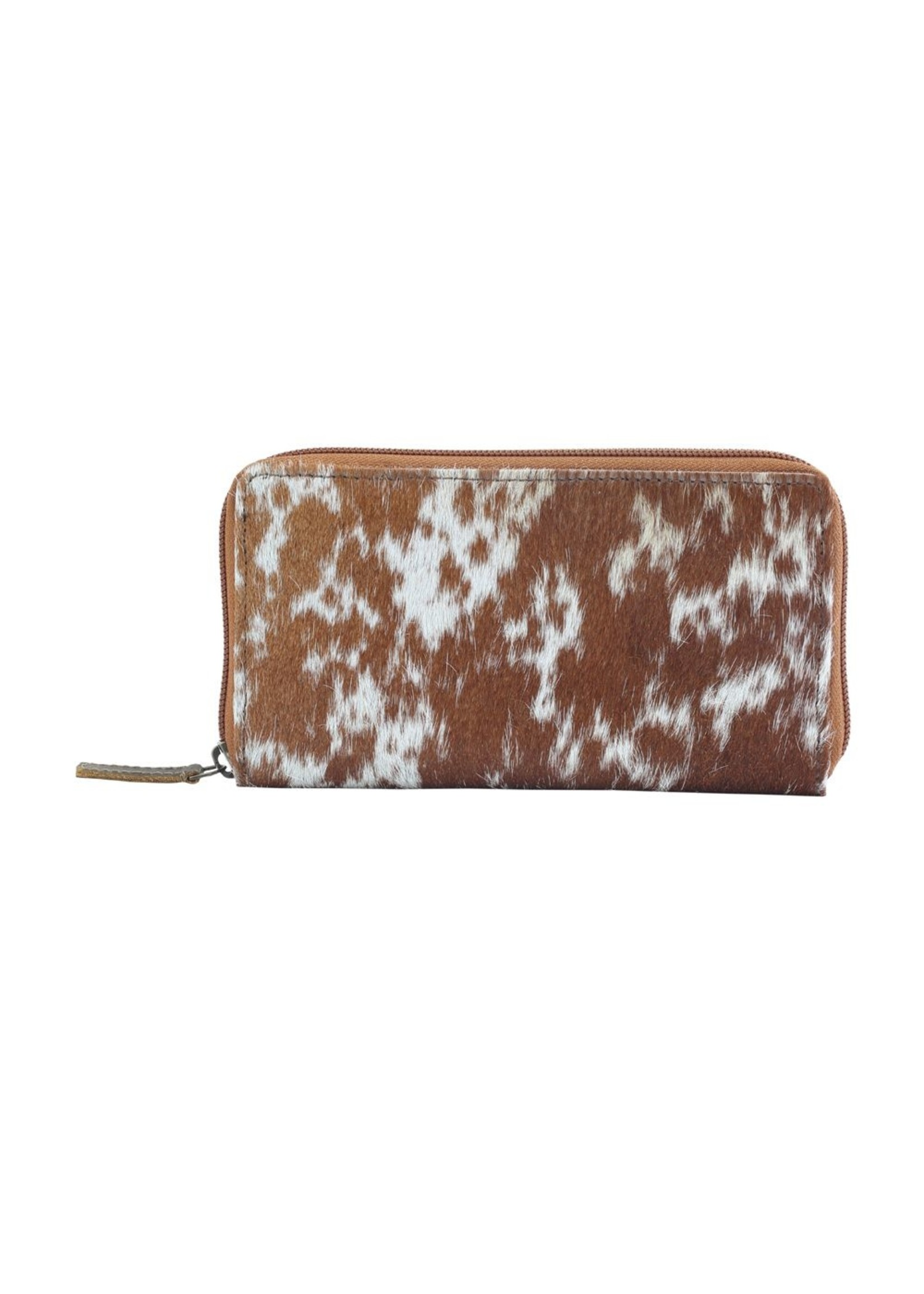 myra bags Milky Way Leather & Hairon Wallet