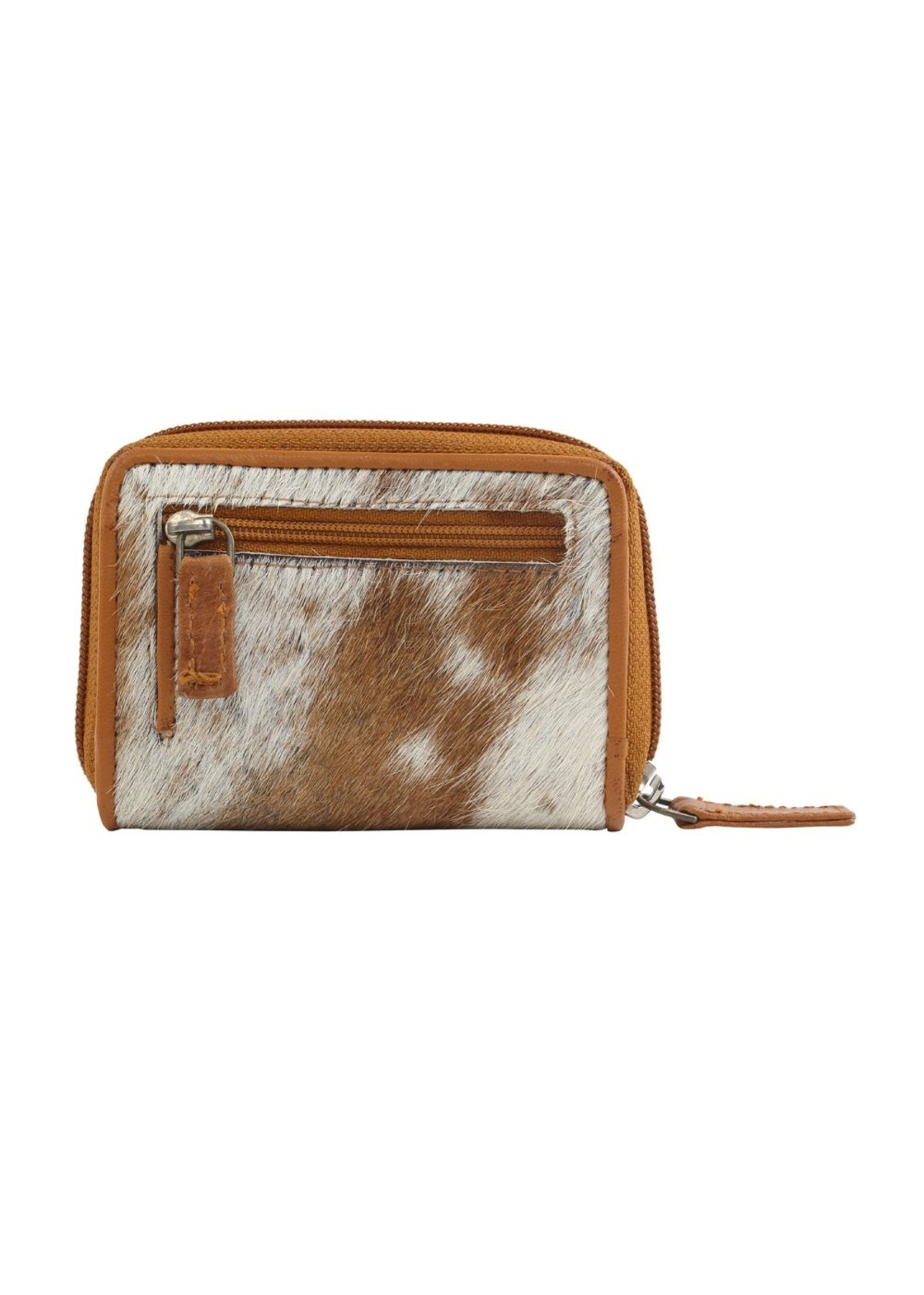 myra bags Declared Winner Leather & Hairon Wallet