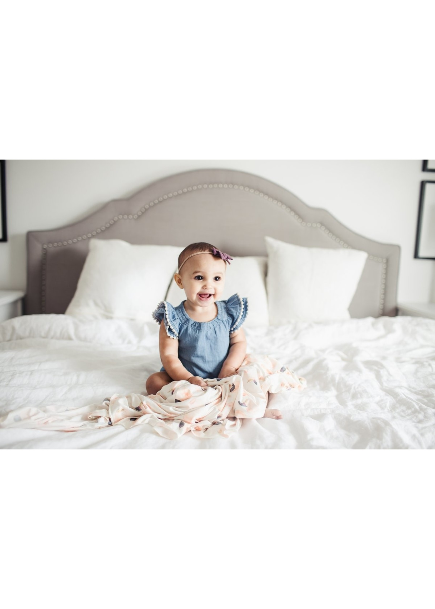 Copper pearl Swaddle Blanket - Caroline