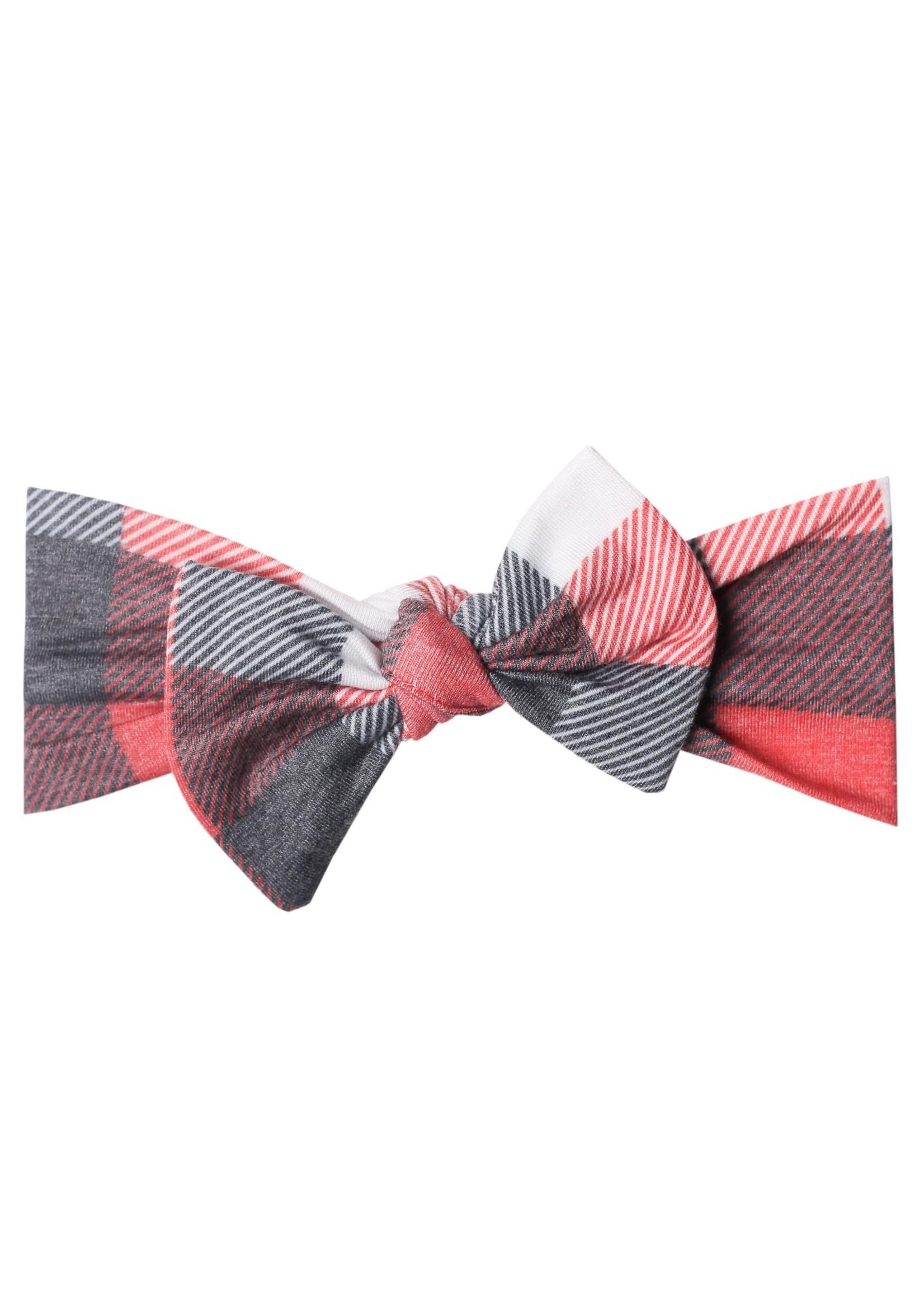 Copper pearl Knit Headband Bow - Jack