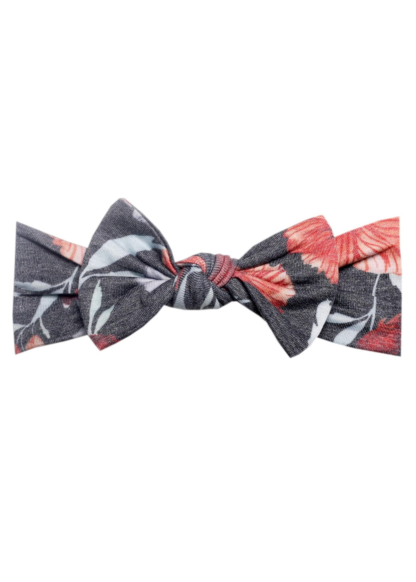Copper pearl Knit Headband Bow - Poppy