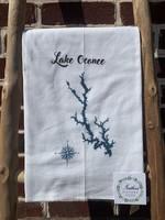 southern sisters Linen Towel Lake Oconee Map