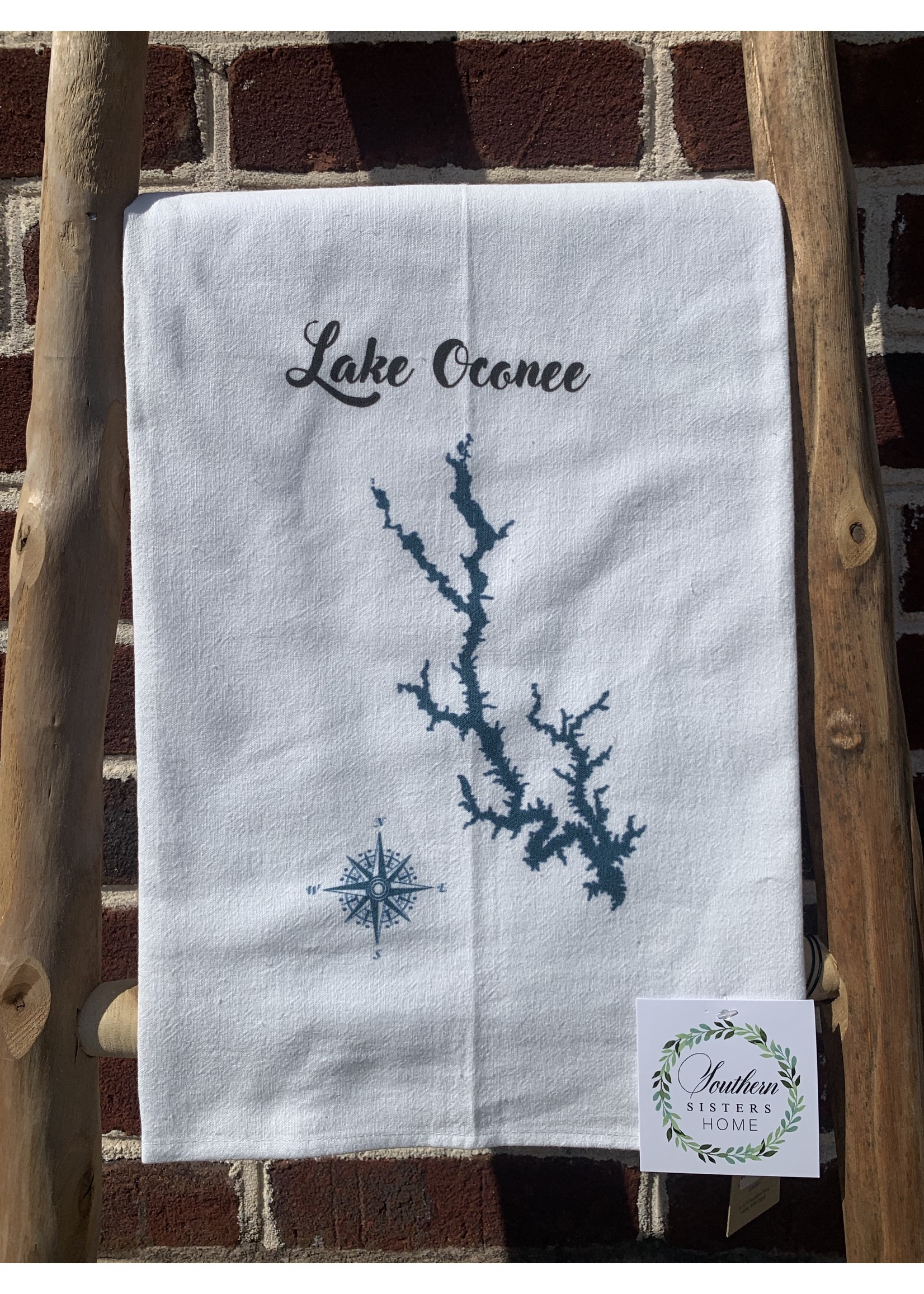 southern sisters Linen Towel Lake Oconee Map