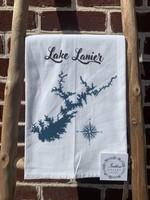 southern sisters Linen Towel Lake Lanier Map