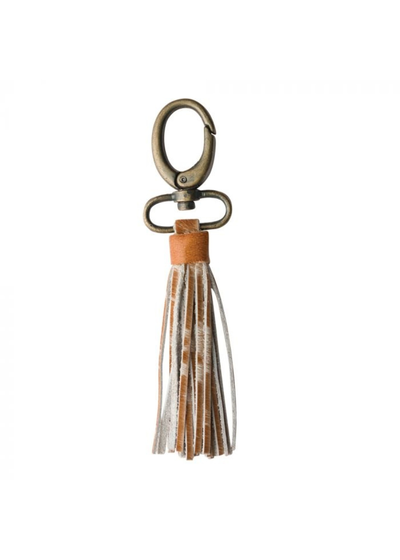 myra bags Fringe Leather & Hairon Key Chain