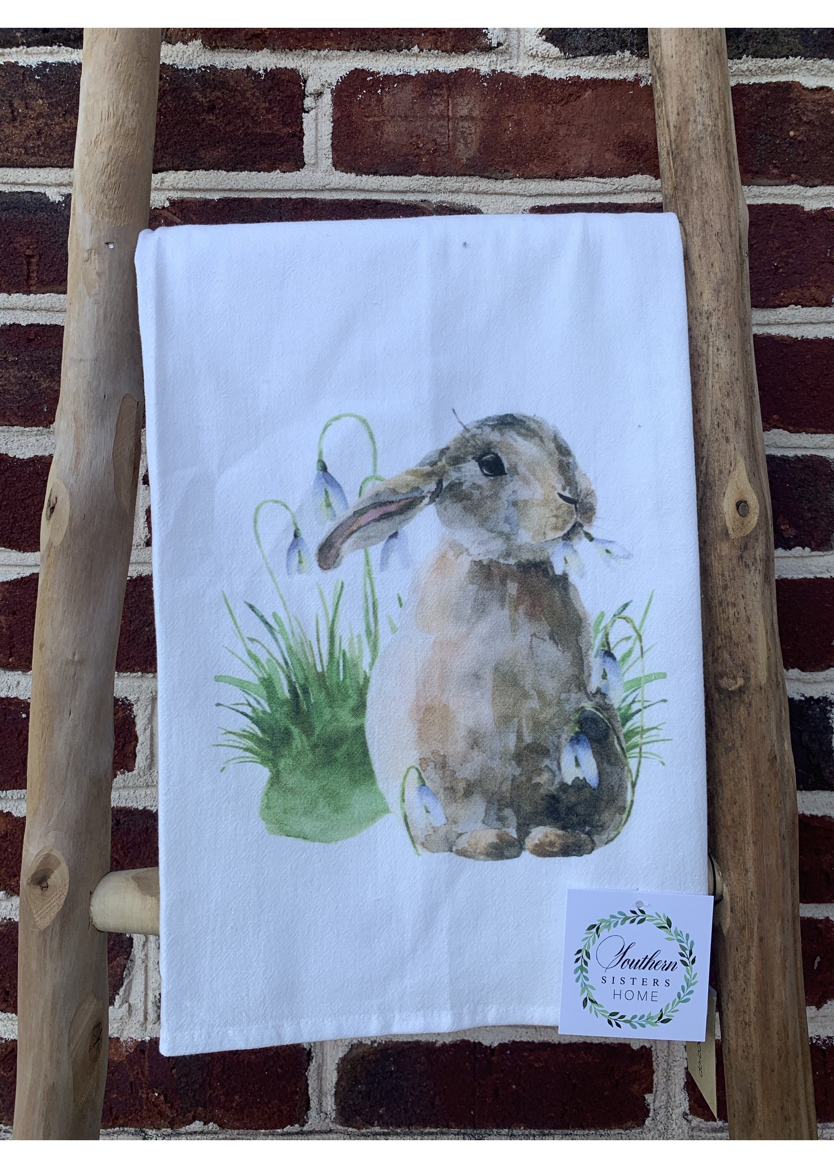 southern sisters Linen Towel Bunny