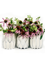 Lucy Grymes Silver Pearl with Silver Foil Vase Wrap