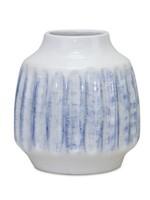 melrose Blue & White Ceramic Vase Beville