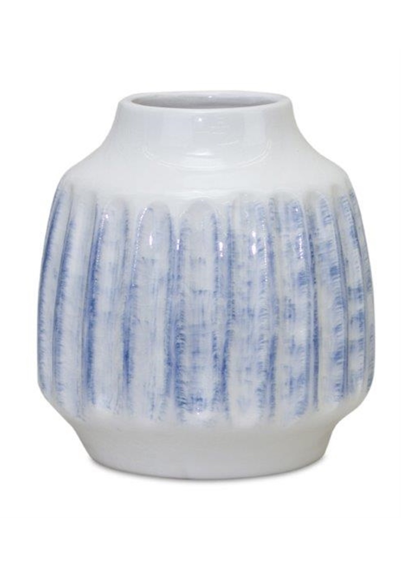 melrose Blue & White Ceramic Vase Beville