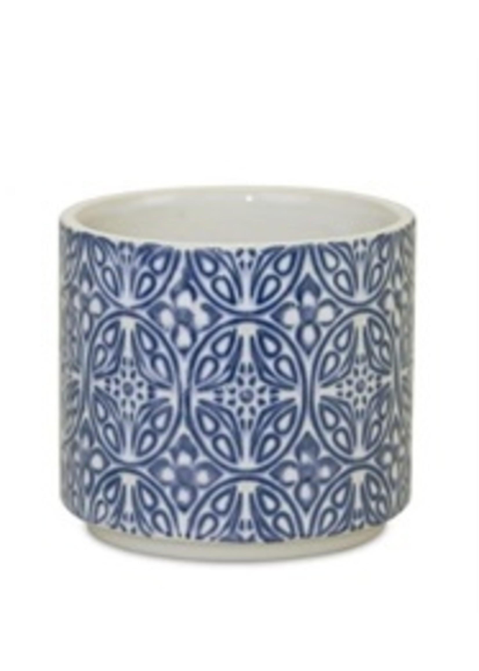 melrose Blue & White Ceramic Planter Small