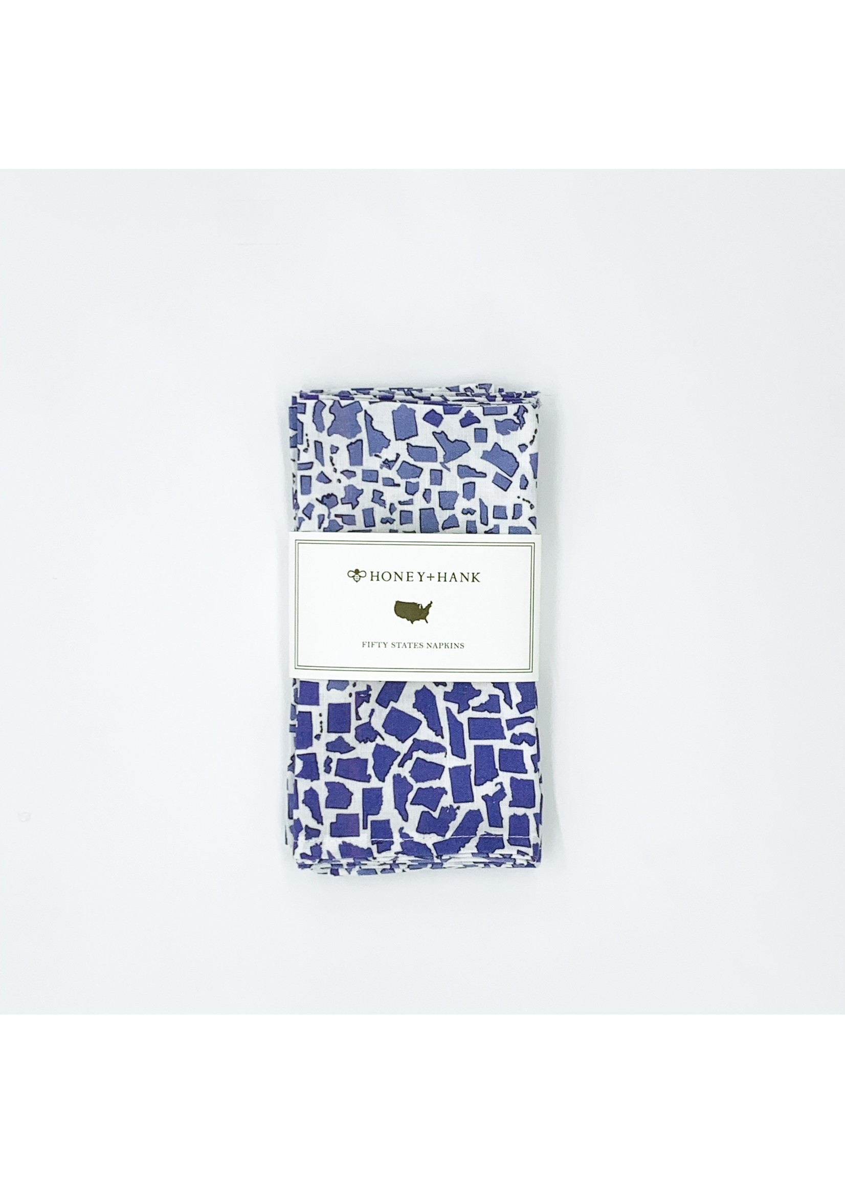 Honey and Hank Fifty States Leopard Napkins