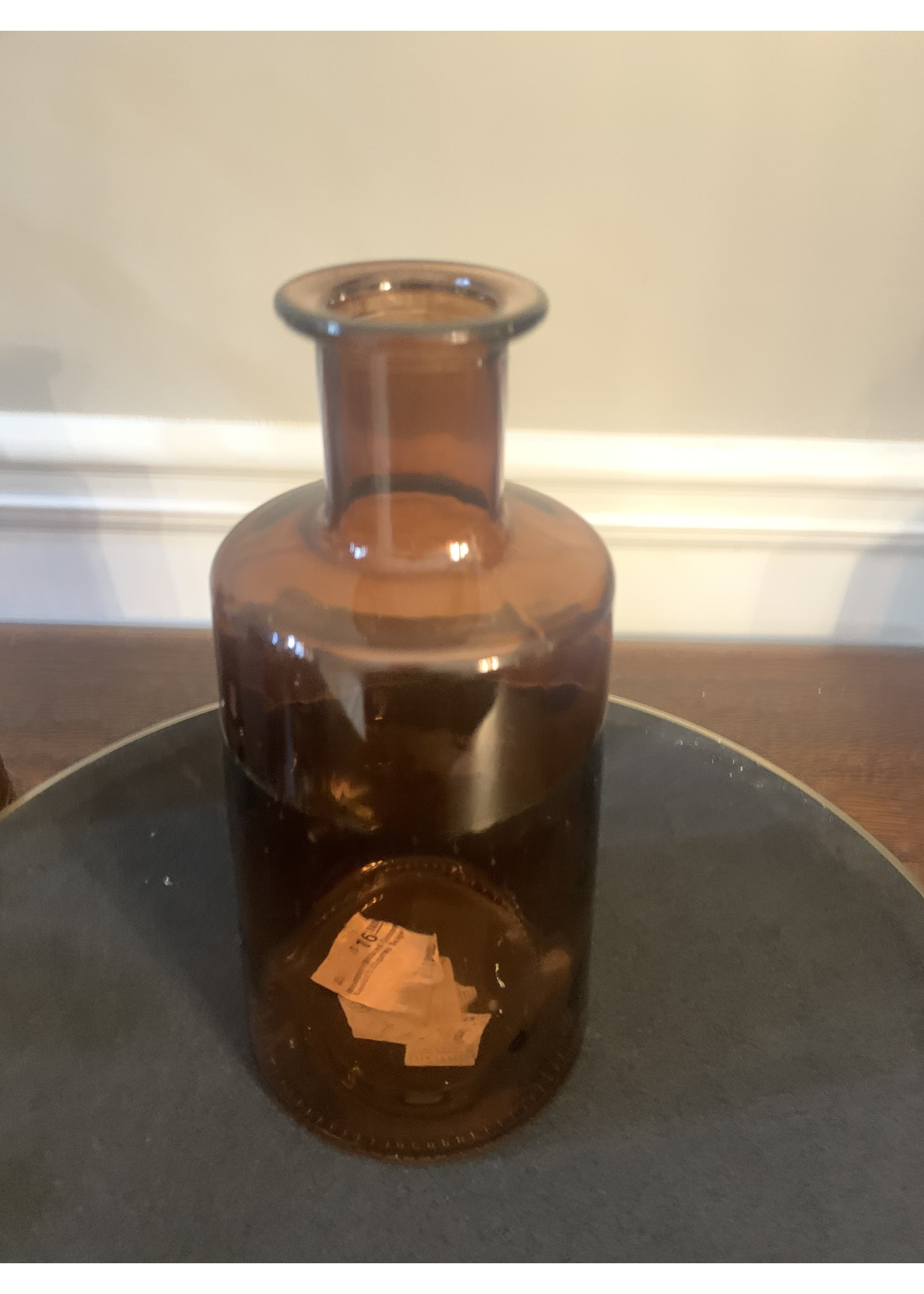melrose Amber Glass Vase Medium