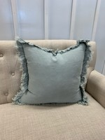 Saro Trading Company Ruffled Design Pillow - Blue