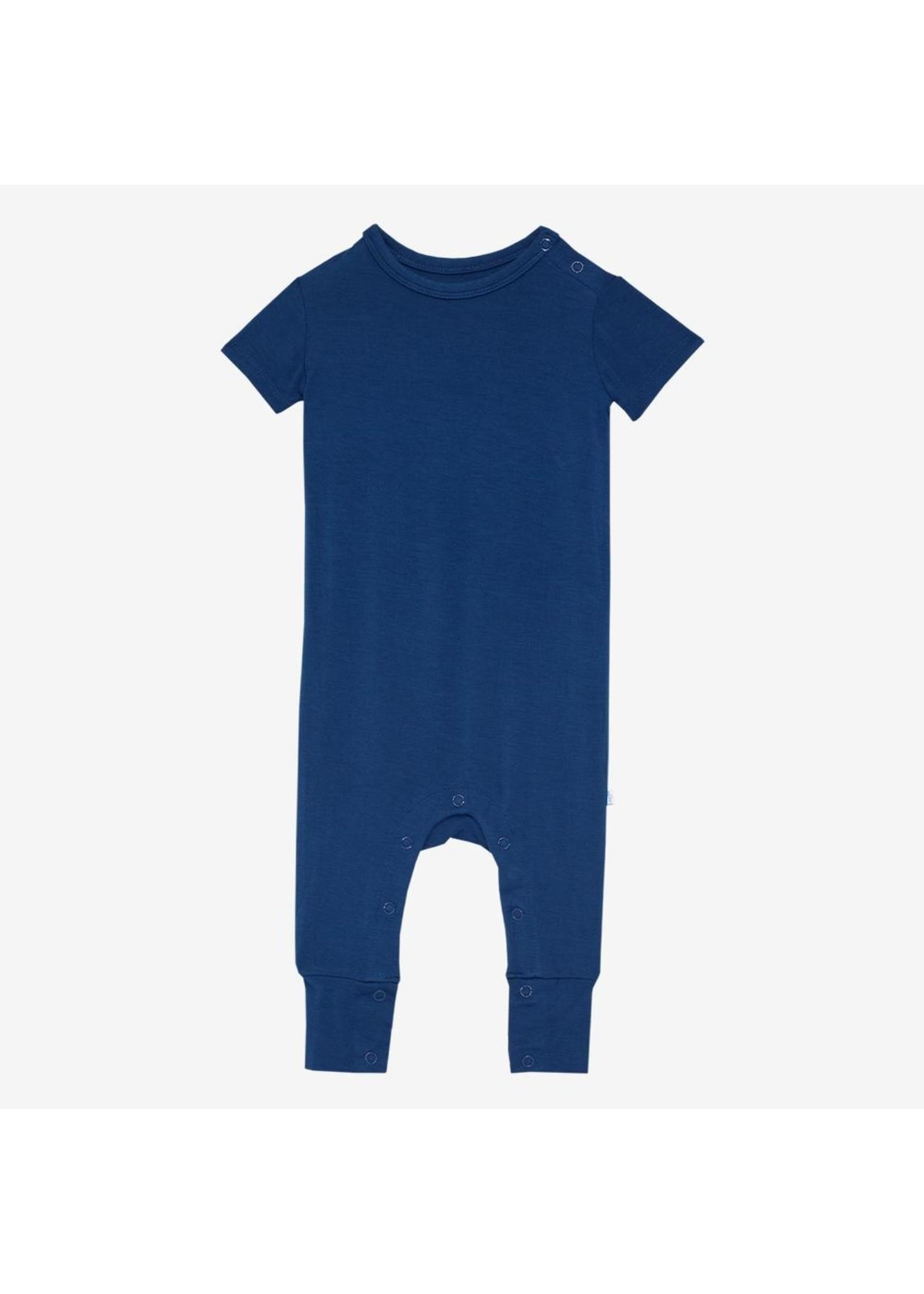 posh peanut Sailor Blue - Short Sleeve Romper