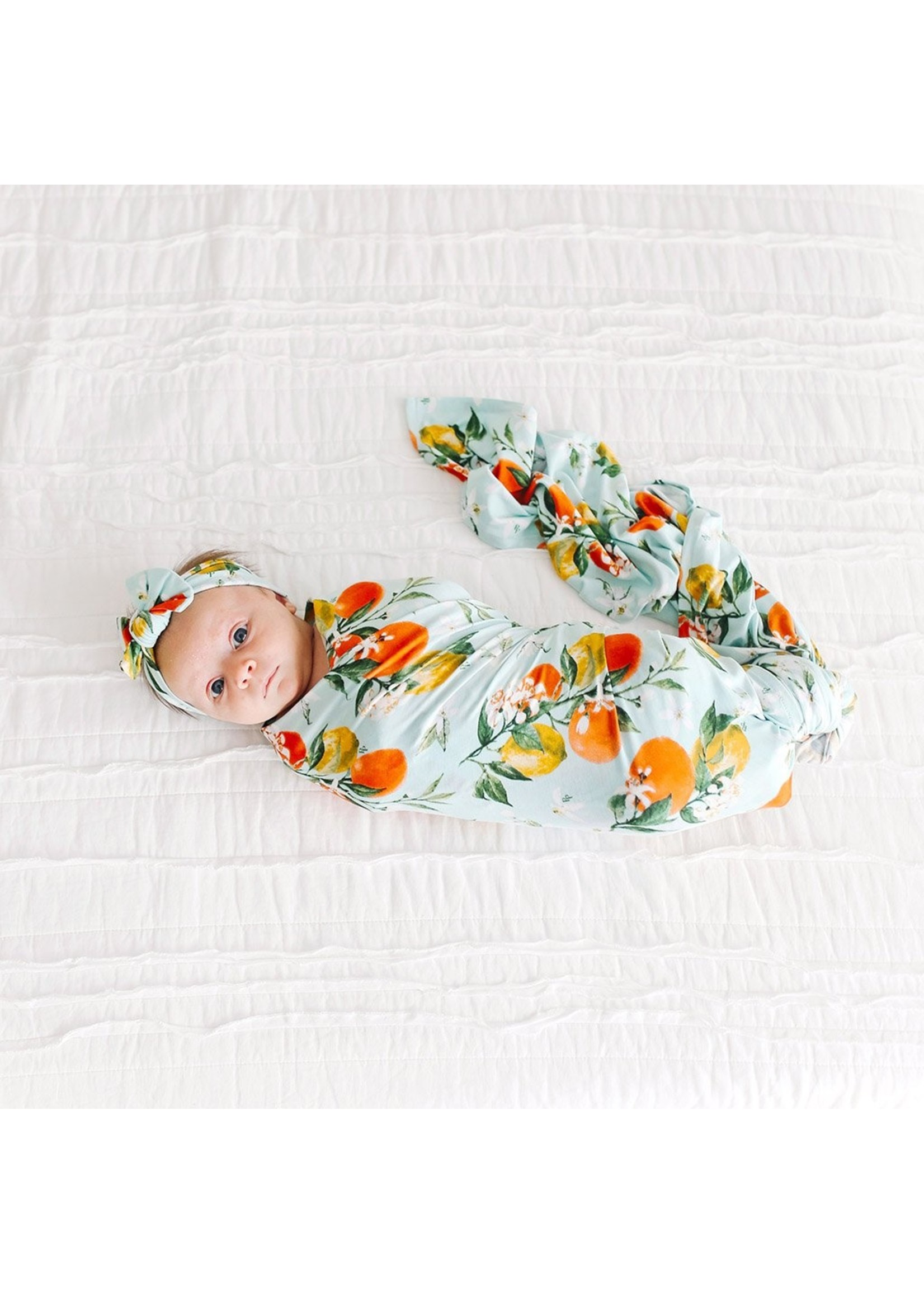 posh peanut Mirabella - Infant Swaddle and Headwrap Set
