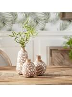 melrose Wood Resin Vase Small