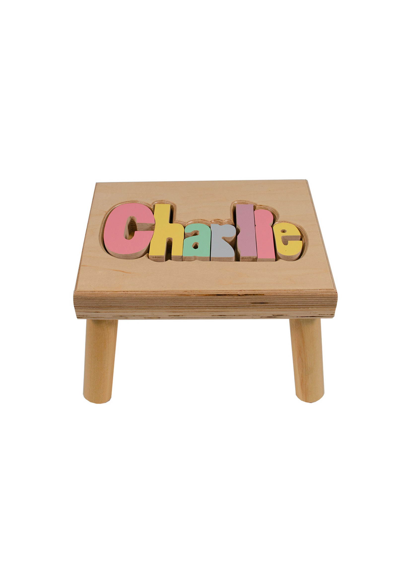 Hollow Woodworks Classic Regular Name Stool (up to 8 letters)