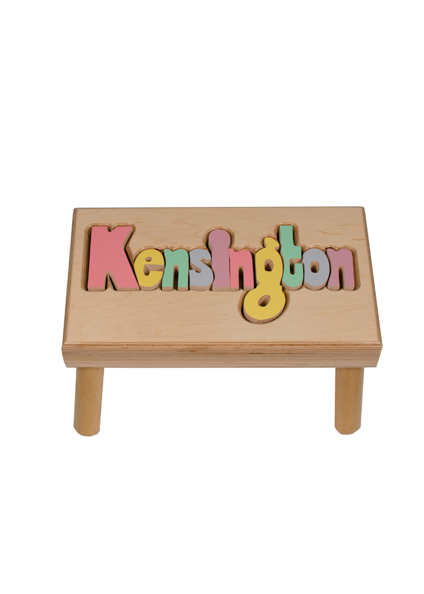 Hollow Woodworks Classic Long Name Stool (up to 12 letters)