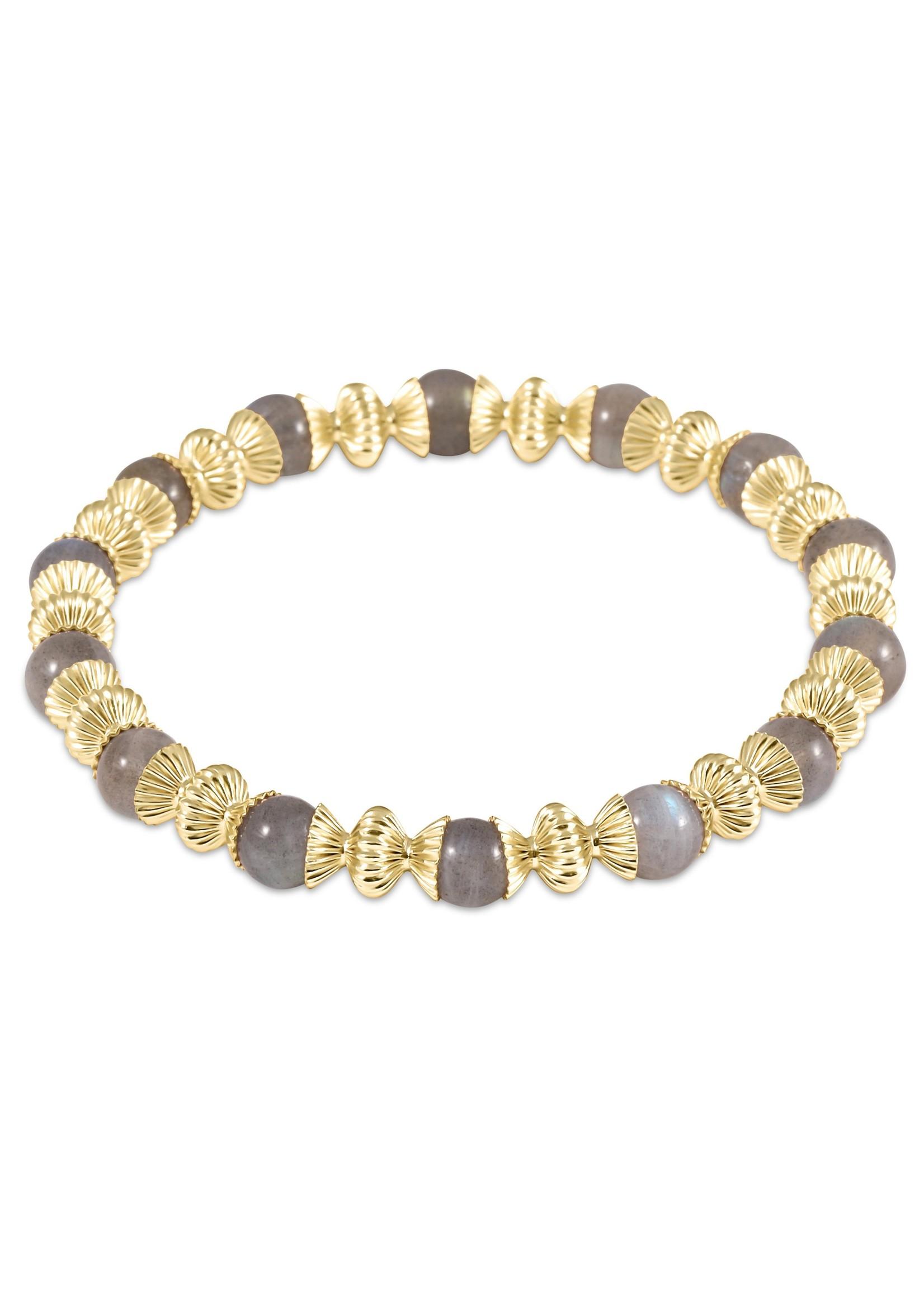 enewton Loyalty Gold 6mm Bead Bracelet - Labradorite