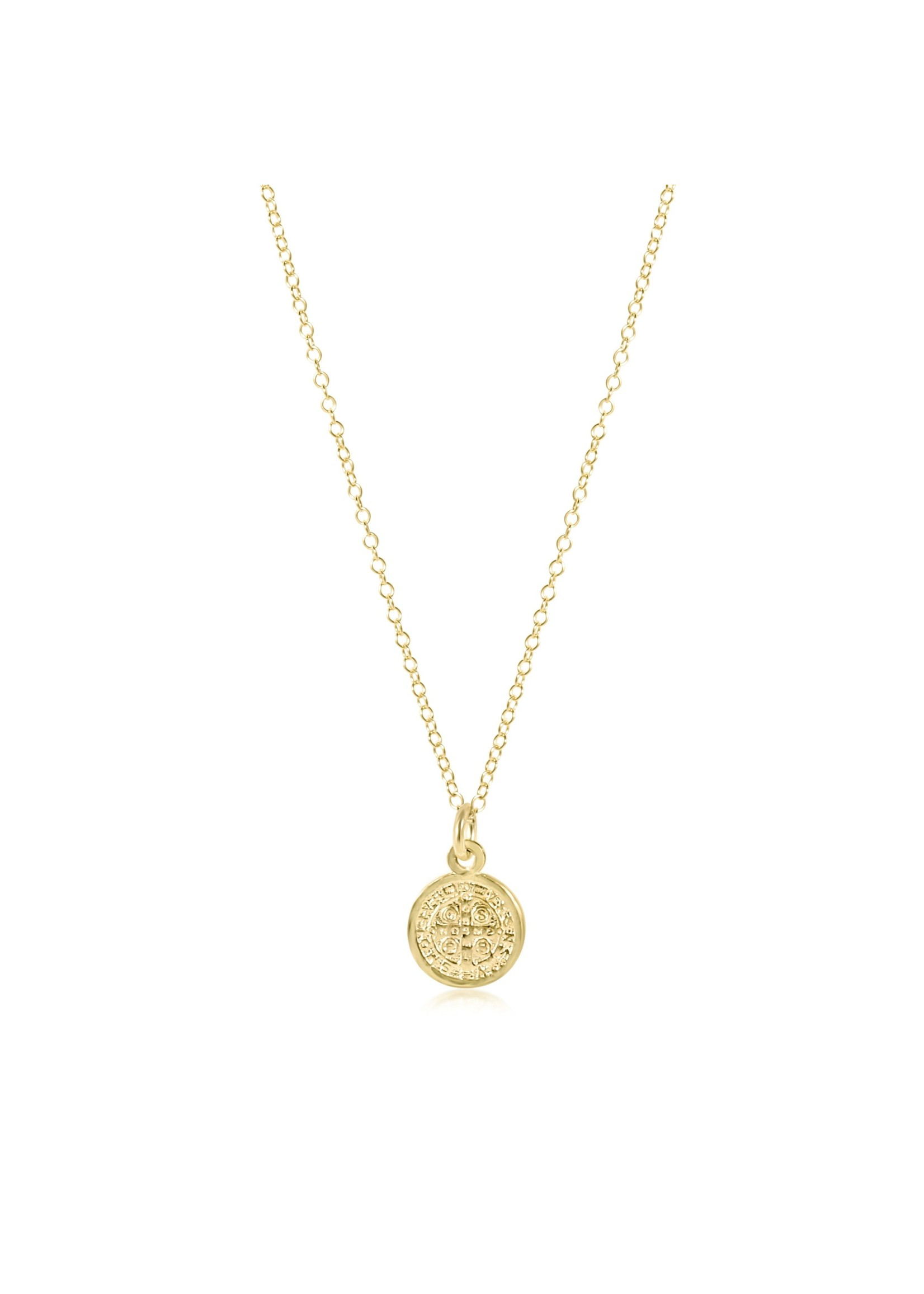 """enewton 16"""" Necklace Gold - Blessing Small Gold Charm"""