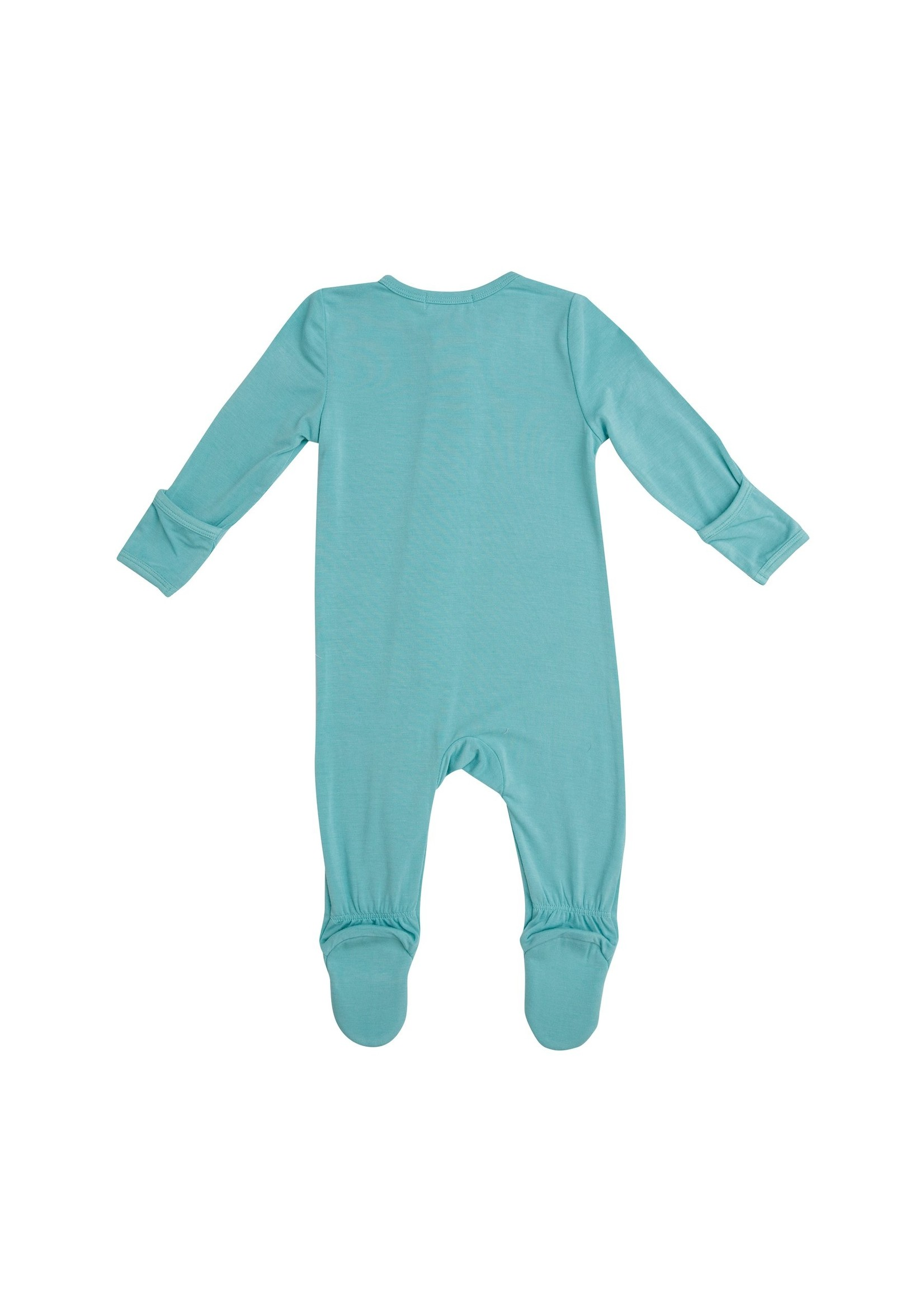 Angel Dear Modern Basics Zipper Footie Jade