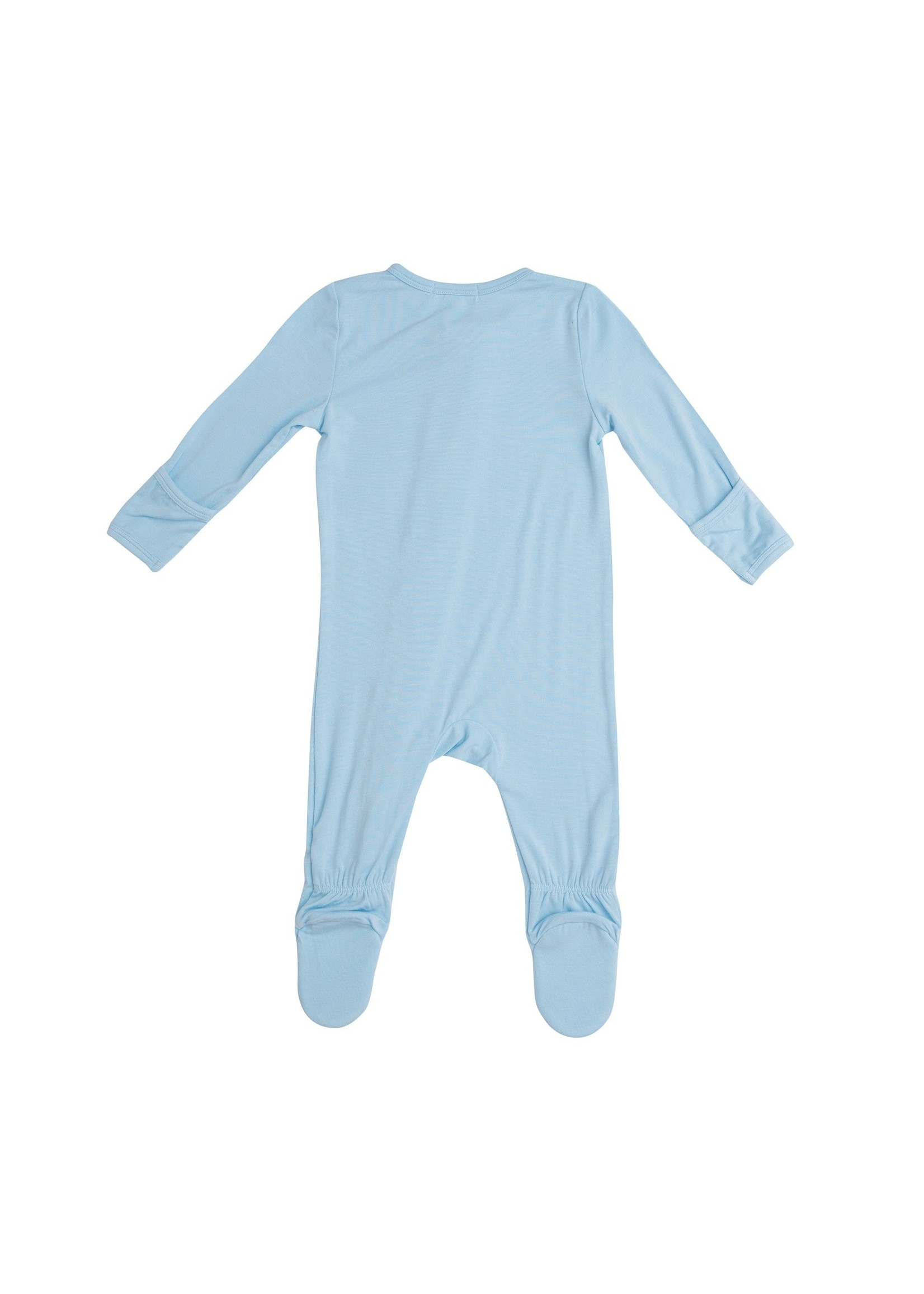 Angel Dear Modern Basics Zipper Footie Cordyalis Blue