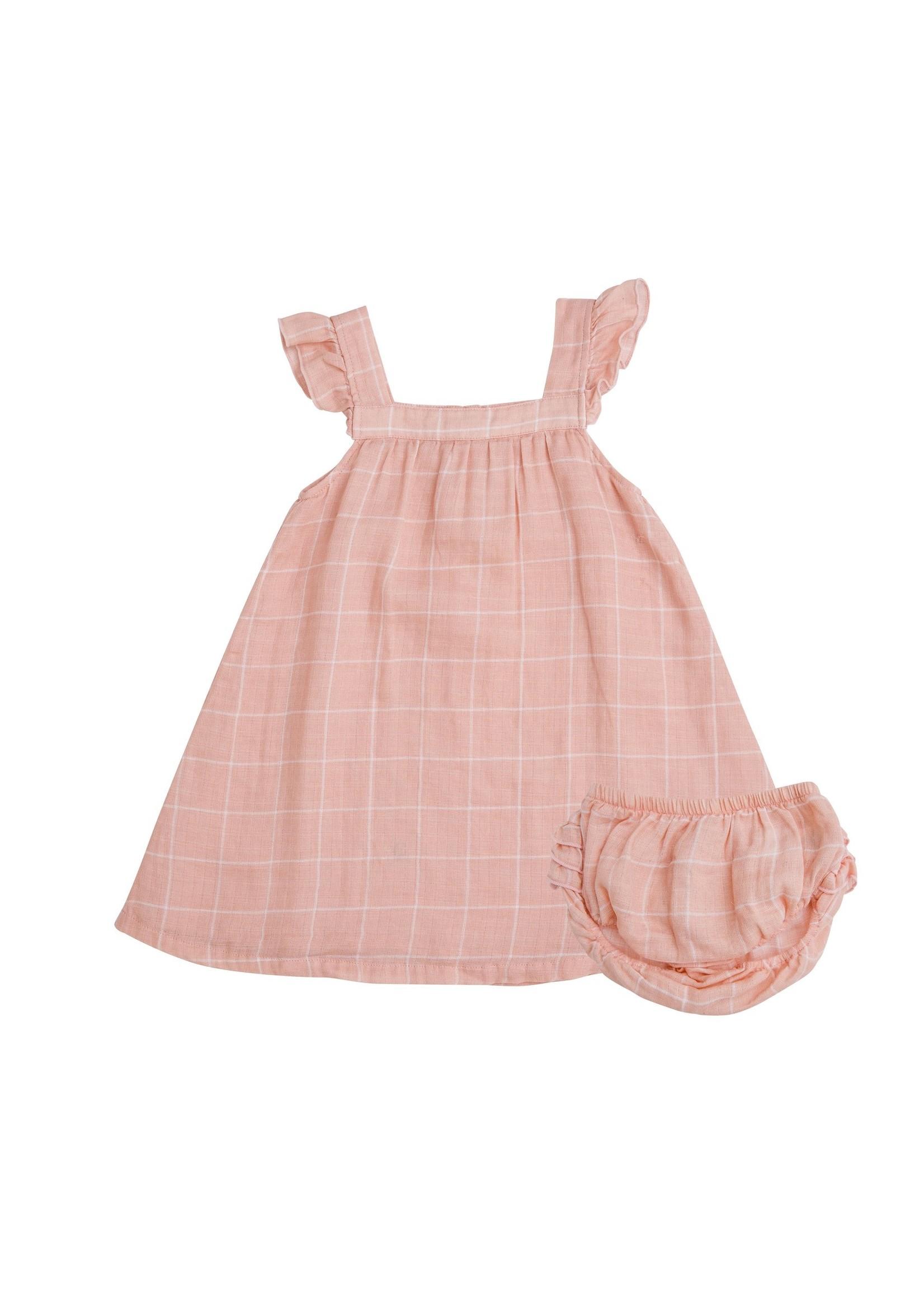 Angel Dear Off Grid Sundress/Diaper Cover Pink
