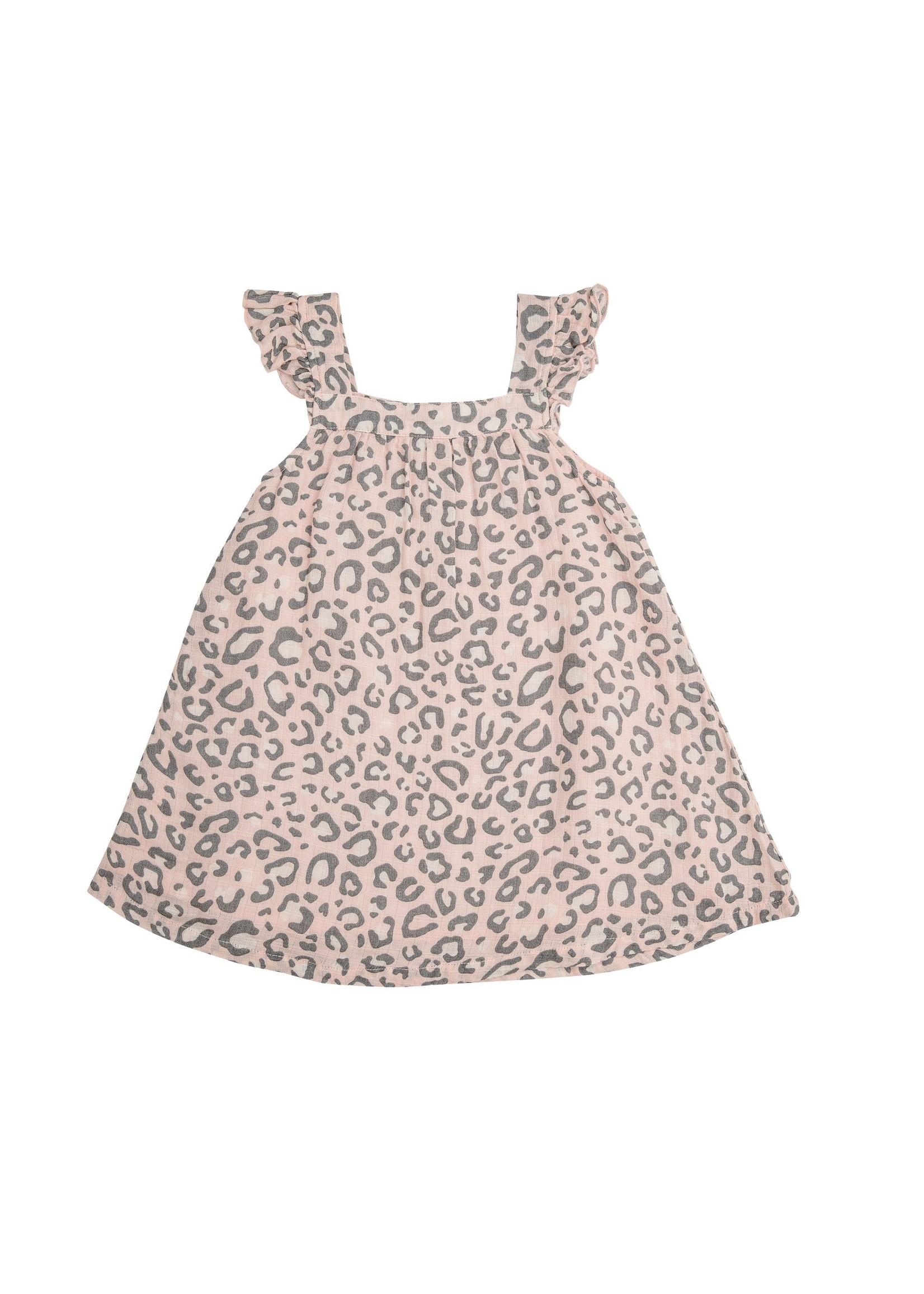 Angel Dear Leopard Sundress/Diaper Cover Pink
