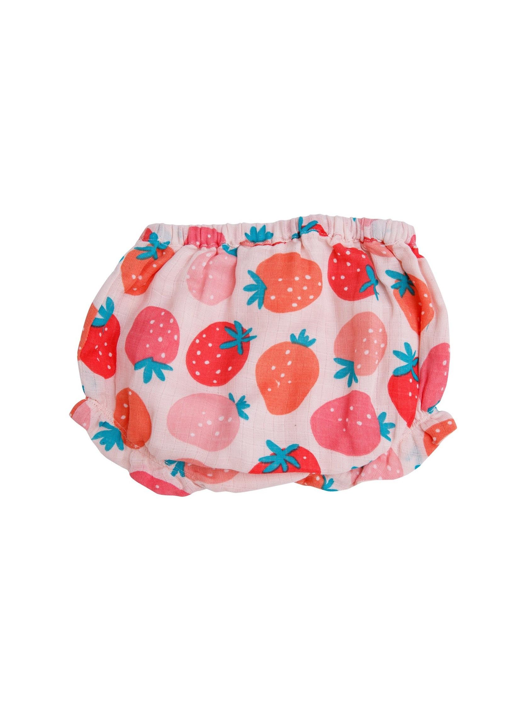 Angel Dear Strawberries Ruffle Top and Bloomer
