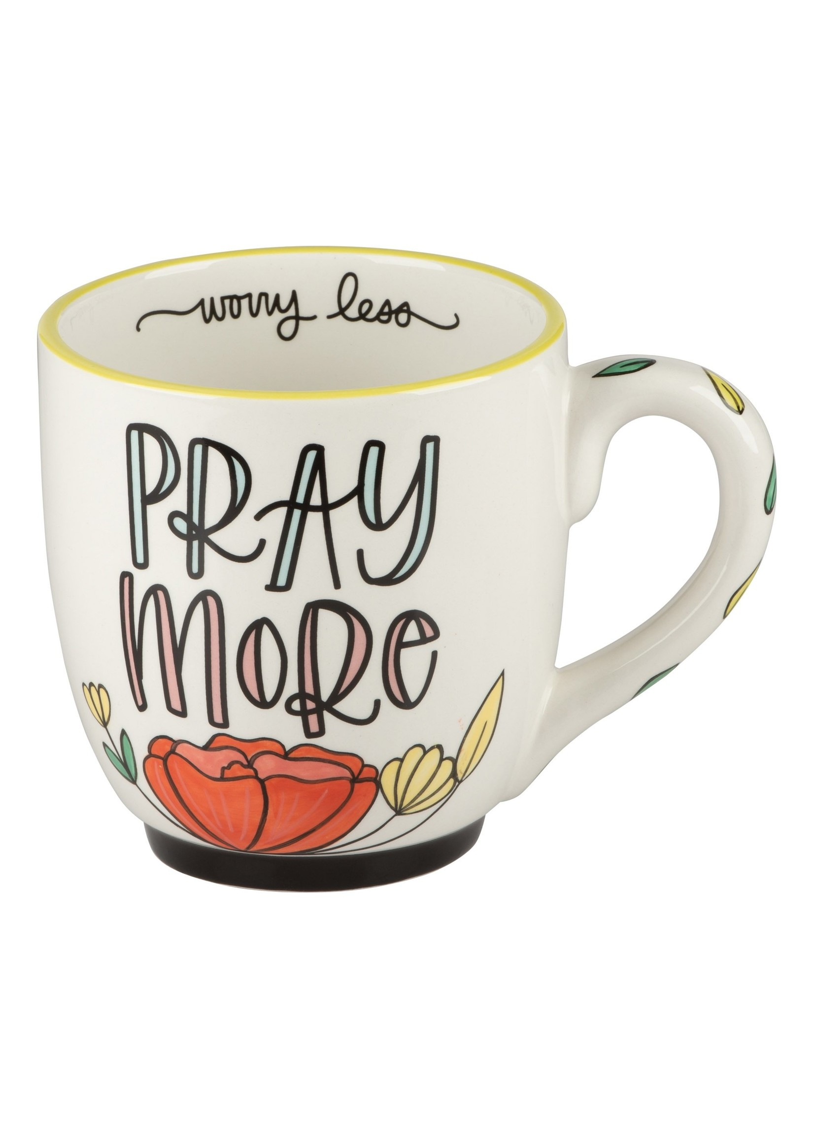 Glory Haus Pray More Worry Less Flower Mug