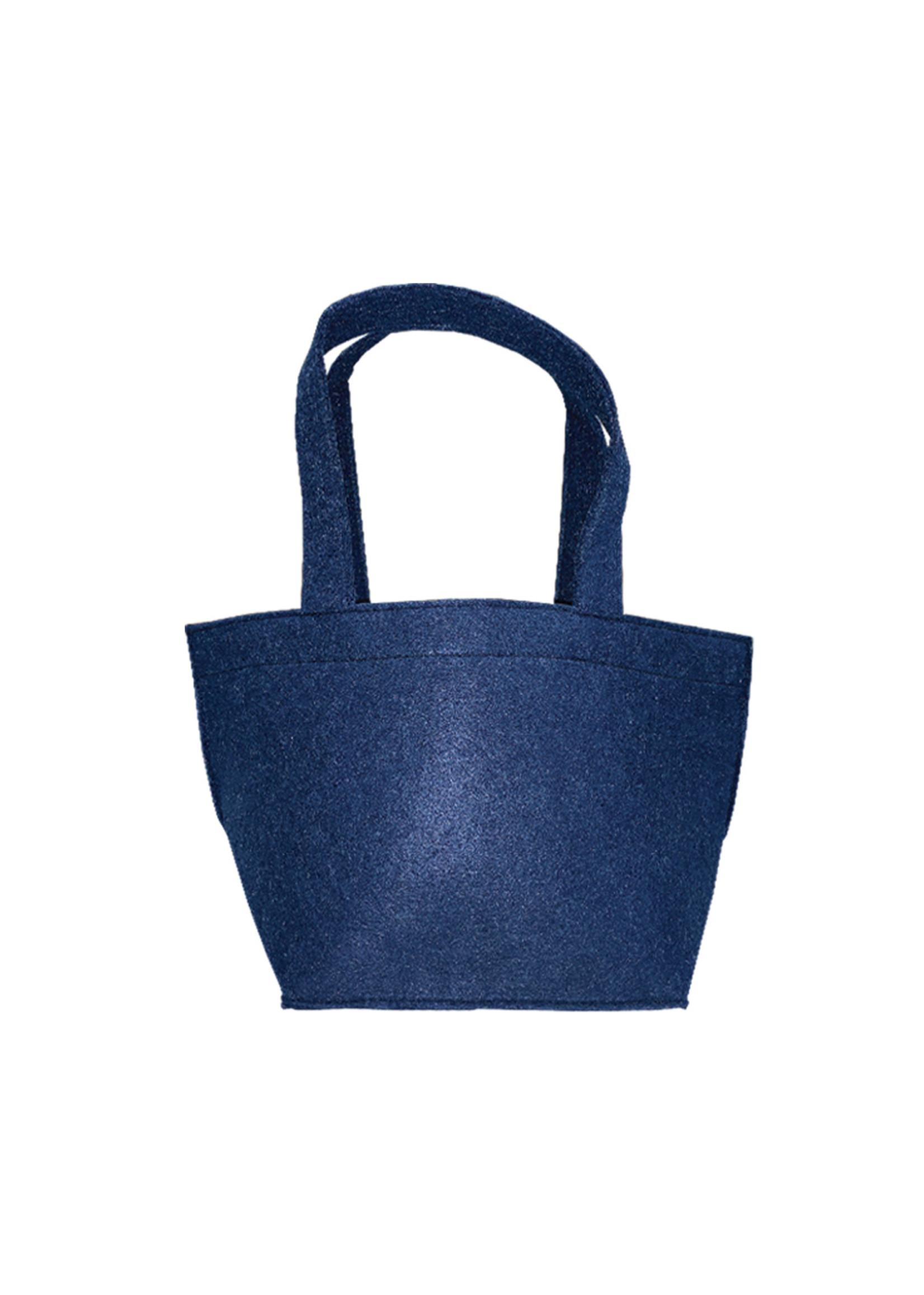 Wholesale Boutique Monogrammed Felt Easter Basket Navy