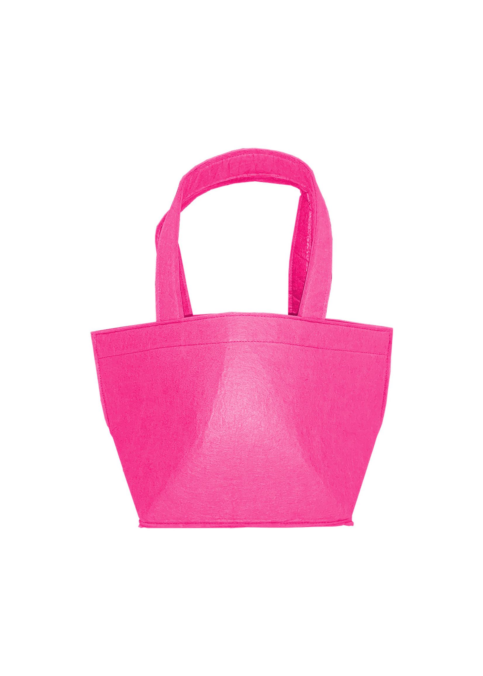 Wholesale Boutique Monogrammed Felt Easter Basket Pink