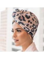 Hotline Hair Ties Leopard Microfiber Towel Twist