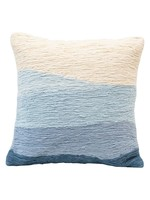 Creative Co-op Blue Wavy Ombre Pillow