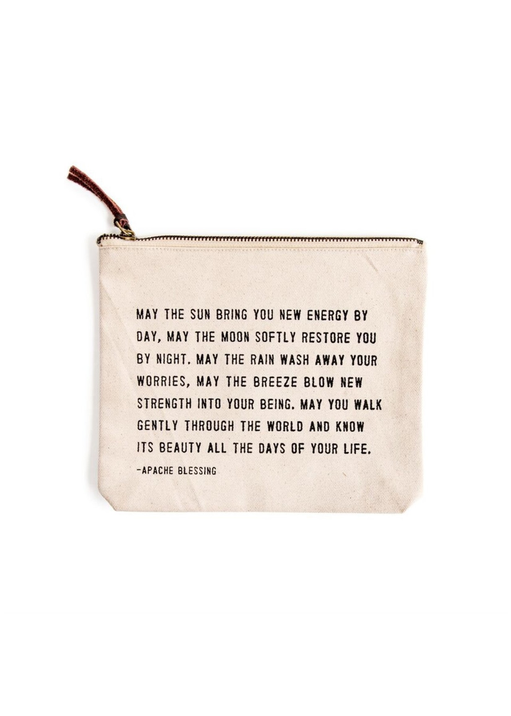 Sugarboo Canvas Zip Pouch - Apache Blessing
